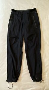 REI Event Waterproof Pants Mens S 32L Black Nylon Ankle Zippers Hiking Camping