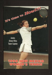 New Mexico Lobos--1998 Tennis Pocket Schedule--Borden