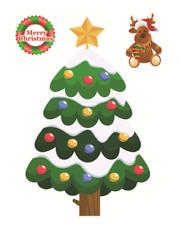 Christmas Window Decal Wall Sticker Removable Reusable Decoration Christmas Tree