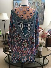 """NWT """"TOLANI"""" Open Front Poncho Wrap Scarf """"One Size Fits All"""" 100% Viscose"""