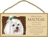 Advice from a Maltese Inspirational Wood Your True Nature Dog Sign Plaque USA