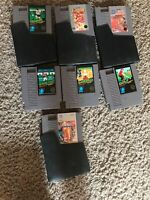 nintendo nes Sports Games. Video game lot of 7 With Four Dust Sleeves