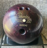 "Vintage Columbia 300 White Dot Purple/Red Swirl ""Loudeene"" 13 lb Bowling Ball"