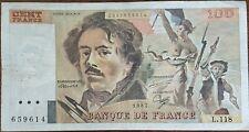 Billet 100 francs Eugène DELACROIX 1987 FRANCE  L.118