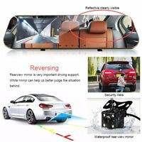 4.3''HD LCD Mirror Monitor Dash Cam Dual Lens Car Reverse + Rear View Camera Kit