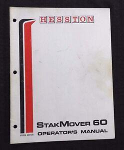 GENUINE HESSTON 60 STAKMOVER BALE MOVER OPERATORS MANUAL VERY GOOD