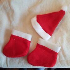 Bonnet de Noël + stiefelchen pour 20 - 25 CM OURSONS (4)