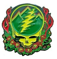 "Grateful Dead Pin Scarlet Fire Stealie 1"" 1/2 inch Lapel Hat Pin"