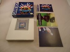 World Bowling (Nintendo Game Boy 1990) COMPLETE w Box manual POSTER game WORKS!