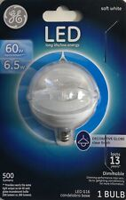GE 60 Watts LED Decorative Globe Soft White with a Clear Finish 500 Lumens
