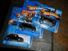 3 LOT Hot Wheels 2005 #140 2001 Mini Cooper Black Faster then ever FTE Shortcard