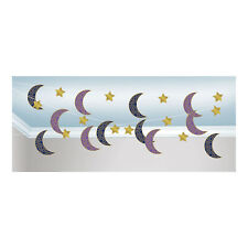 Eid Blue Gold Purple Ceiling String Banner Bunting Garland Party Decoration