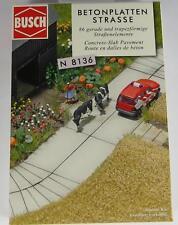 BNIB N BUSCH 8136 CONCRETE SLAB ROAD KIT - FARM - QUARRY - DEPOT -LEVEL CROSSING
