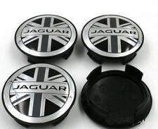 4X NEW JAGUAR UNION JACK ALLOY WHEEL CENTRE CAPS 59mm XJ XJR XJ6 XF X S TYPE SET