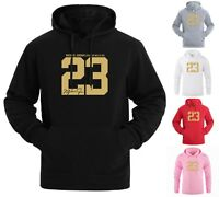 NEW Gold Print Michael Air Legend 23 Jordan Mens Hoodie Sportswear Men Hoodies