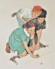 Norman Rockwell Marbles Lithograph