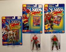 ToyBiz 1992 The Uncanny X-Men X-Force lot of 3 ShatterStar Kane GW Bridge