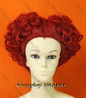 Alice in Wonderland Red Queen Custom Styled Cosplay Wig