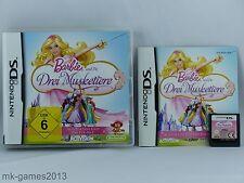 Barbie und die drei Musketiere für Nintendo DS/Lite/XL/3DS - OVP+Anl. - Sehr gut