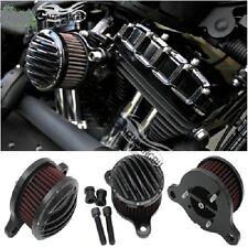 Air Cleaner Intake Filter System Kit for Harley Sportster 48 XL883 1200 88+ Blk