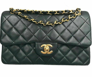 CHANEL Classic Double Flap Medium Shoulder Bag Black Caviar Leather