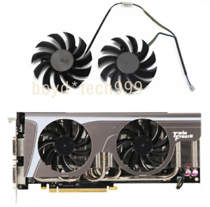 2psc 75MM Cooler Fan For MSI GeForce GTX 580 570 560 560Ti 465 PLD08010S12HH