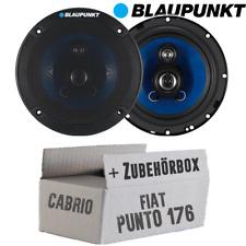 Lautsprecher Blaupunkt 3-Wege Auto Einbauset für Fiat Punto 1 176 Cabrio Front