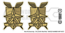 New! Mad Max MFP MAIN FORCE DECAL STICKER - TWIN SET - MFP 4073