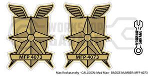 New! Mad Max MFP MAIN FORCE STICKA - XXL TWIN SET - MFP 4073
