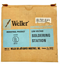 New Weller Controlled Output Soldering Station W Tcp L Pencil Iron Box Two Tip
