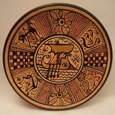 Archaeological Ancient Greek Pottery Art Rare 900 BC Geometric Painted Plate