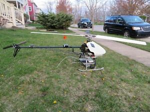 VERY Rare~LARGE X-CELL R/C HELICOPTER 6 1/2 Foot Rotor Span FUTABA SERVO S9252
