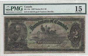 DOMINION OF CANADA 1897 2 DOLLARS Pick DC-14c PMG 15