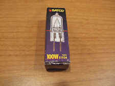Satco 100W 120V Halogen Bi-Pin Light Bulb GY6.35 Base 100 Watt Bipin S1924