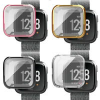 For Fitbit Versa Silicone Protective TPU Case Screen Protector Frame Cover FH
