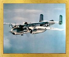 Military B-25 Mitchell. Lt. Bomber Airplane Jet Vintage Aviation Framed Picture