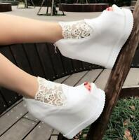 Womens Summer Wedge High Heels Peep Toe Zipper Sandals Sexy Platform Shoes Ske15