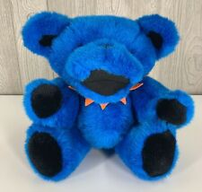 "Grateful Dead 12"" Blue Jointed Dancing Bear Plush 1990S Steven Smith Deadhead"