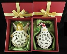 Qvc Home Reflections Angel and Santa Flameless Luminaries Gift Boxes H199871