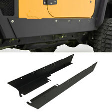 Armor Body Rocker Panel Guard Rock Sliders Black Textured for 97-06 Jeep TJ