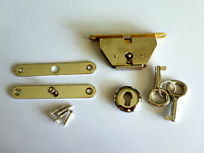 Jewellery wooden box lock, small jewelry full mortise lock key set chrome color