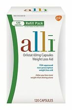 Alli Orlistat 60mg Weight Loss Aid Refill Pack 120 Capsules FACTORY SEALED