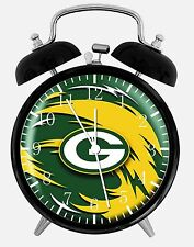 """Green Bay Packers Alarm Desk Clock 3.75"""" Home or Office Decor E378 Nice For Gift"""