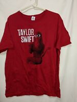 Taylor Swift mens Large Red T-shirt 100% Cotton