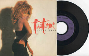 "TINA TURNER ► TYPICAL MAN - 45 Tours / 7"" Vinyle - FRANCE PURPLE LABEL - 1986"