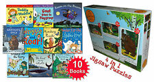 Julia Donaldson Collection 10 Books Set Paul Lamond The Gruffalo 4 in 1 Puzzles