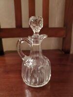 Antique Vintage Cut Glass Vinager Cruet