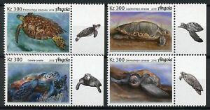 Angola Turtles Stamps 2018 MNH Loggerhead Sea Turtle Reptiles 4v Set