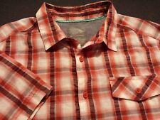 Mountain Hardwear Mens Large S/S Button-Front Multicolor Plaid Hiking Shirt
