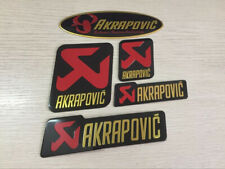 Akrapovic Sticker Motorcycle Exhaust Pipe 3D Aluminum Metal Heat Resistant Decal